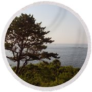 Seaside Pine Round Beach Towel