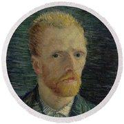 Self-portrait Paris July  August 1887 Vincent Van Gogh 1853  1890  Round Beach Towel