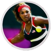 Serena Williams Eye On The Prize Round Beach Towel