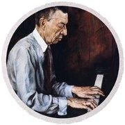 Sergei Rachmaninoff Round Beach Towel