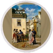 Sevillian Square Round Beach Towel