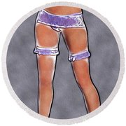 Sexy Stockings Pop Art Round Beach Towel