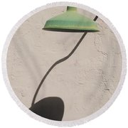 Shadow Lamp Round Beach Towel