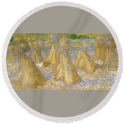 Sheaves Of Wheat Round Beach Towel