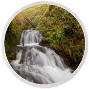 Shepperd's Dell Falls Round Beach Towel