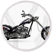 Shiny Chopper Round Beach Towel