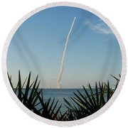 Shuttle Launch Round Beach Towel