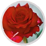 Simply Red Round Beach Towel
