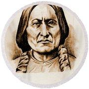 Sitting Bull Round Beach Towel