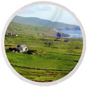 Skellig Ring - Ireland Round Beach Towel