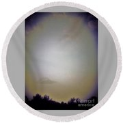 Sky And Trees  Round Beach Towel