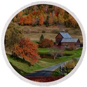 Sleepy Hollow Farm Round Beach Towel