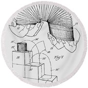 Slinky Patent 1947 Round Beach Towel