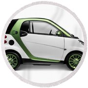 Smart Fortwo Electric Drive Round Beach Towel