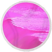 Smooth Pink Round Beach Towel