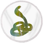 Snake Round Beach Towel