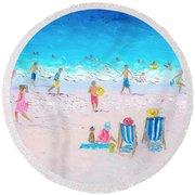Soaking Up The Sun Round Beach Towel