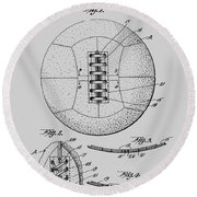 Soccer Ball Patent  1928 Round Beach Towel