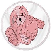 Soft Puppy Pink Round Beach Towel