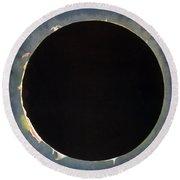 Solar Eclipse, 1860.  Round Beach Towel by Granger