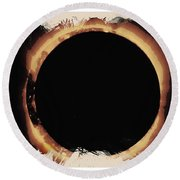 Solar Eclipse 2017 3 Round Beach Towel