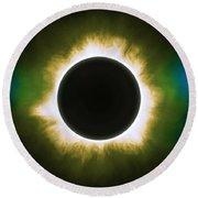 Solar Eclipse In Infrared Round Beach Towel