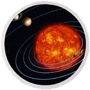 Solar System Round Beach Towel by Stocktrek Images