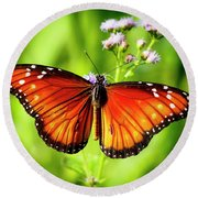 Soldier Butterfly Round Beach Towel