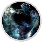 Song Of The Universe Round Beach Towel