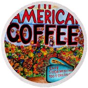 South American Coffee Round Beach Towel