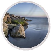 South County Sunset  Round Beach Towel