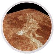 Space: Venus, 1991 Round Beach Towel
