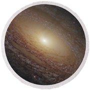 Spiral Galaxy Ngc 2841 Round Beach Towel