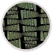 Spring Awakenings Round Beach Towel