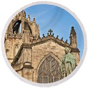 St Giles Cathedral  Edinburgh Round Beach Towel