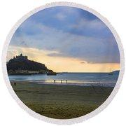 St Michaels Mount Round Beach Towel