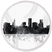 St Paul Minnesota Skyline Round Beach Towel