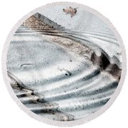 Stairs To The Surreal  Round Beach Towel
