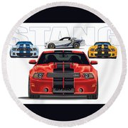 Stang 2 Round Beach Towel