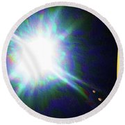 Star Burst  Round Beach Towel