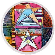 Star Power Round Beach Towel