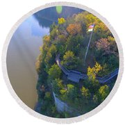 Starved Rock Ill, Round Beach Towel