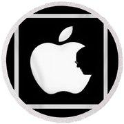 Steve Jobs Apple Round Beach Towel