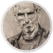 Steve Jobs Round Beach Towel