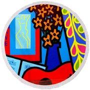 Still Life With Henri Matisse's Verve Round Beach Towel