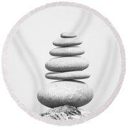 Stones 2 Round Beach Towel