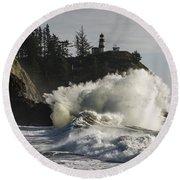 Storm Surf Round Beach Towel