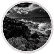 Storms Coming Round Beach Towel