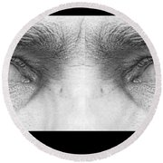Stormy Angry Eyes Round Beach Towel
