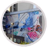 Street Photography Round Beach Towel